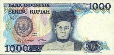 Wajah Sisingamangaraja XII pada uang kertas nominal Rp.1000